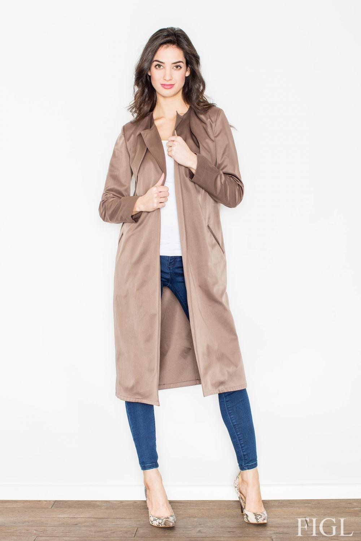 Dámský kabát FIGL M427 hnědý