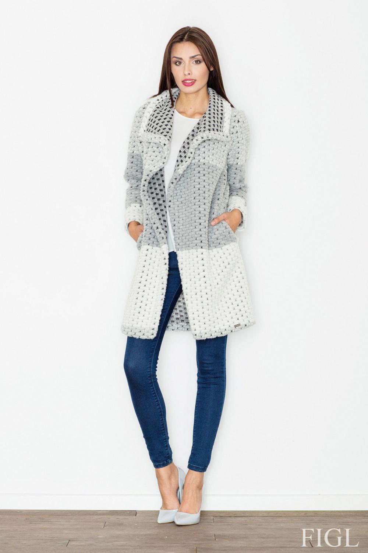 Dámský kabát FIGL M507 šedý