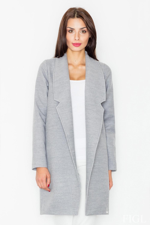 Dámský kabát FIGL M531 šedý