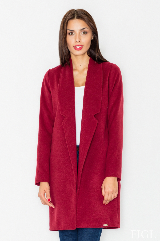 Dámský kabát FIGL M531 vínový