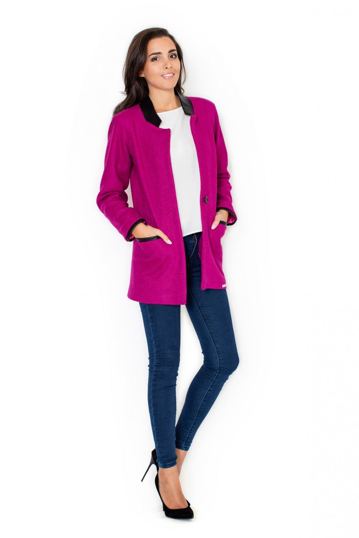 Dámský kabát Katrus K307 růžový