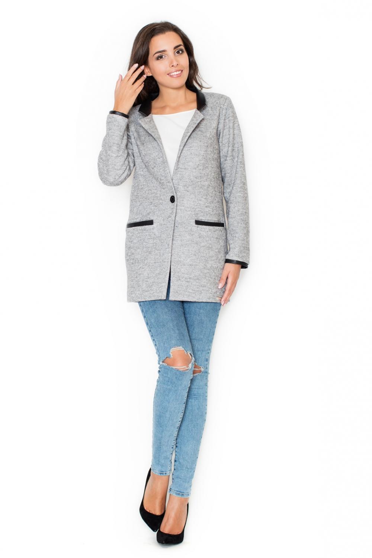 Dámský kabát Katrus K307 šedý