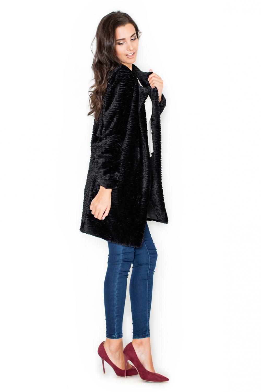 Dámský kabát Katrus K309 černý