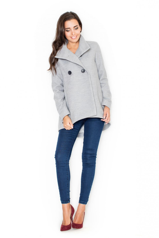Dámský kabát Katrus K310 šedý