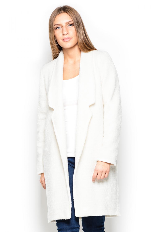 Dámský kabát Katrus K406 bílý