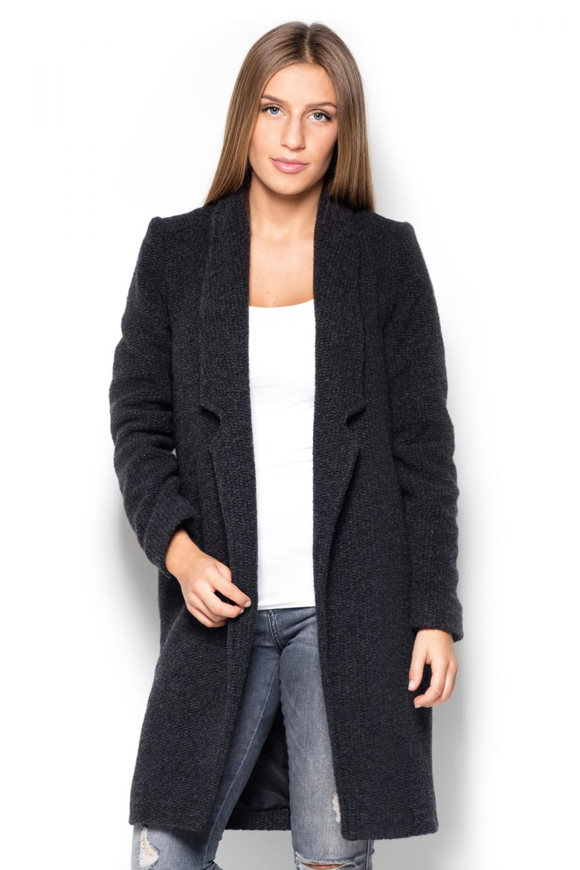 Dámský kabát Katrus K406 černý