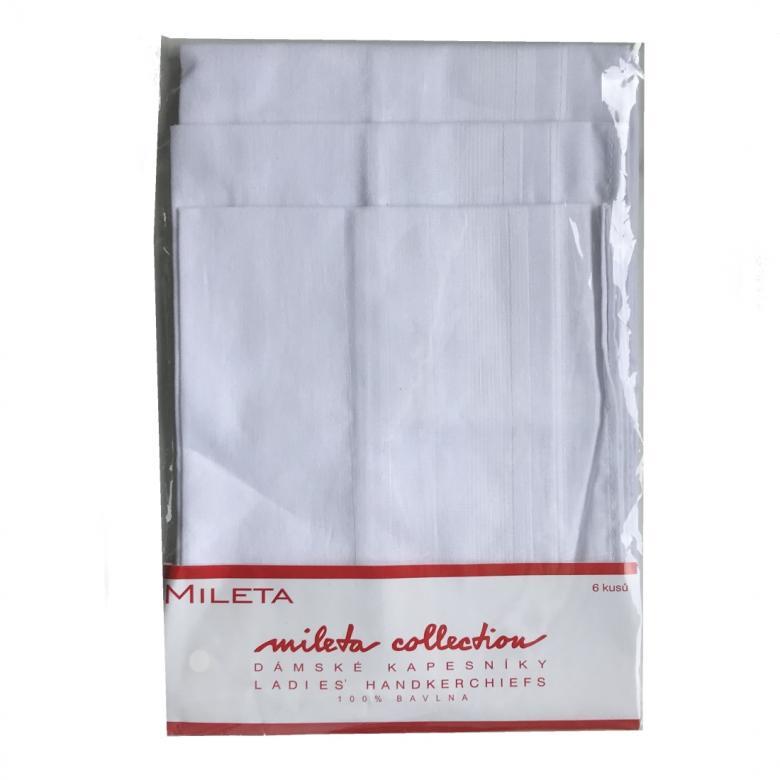 Dámský kapesník GRETA 3821 bílé 079-6 bal 6 ks