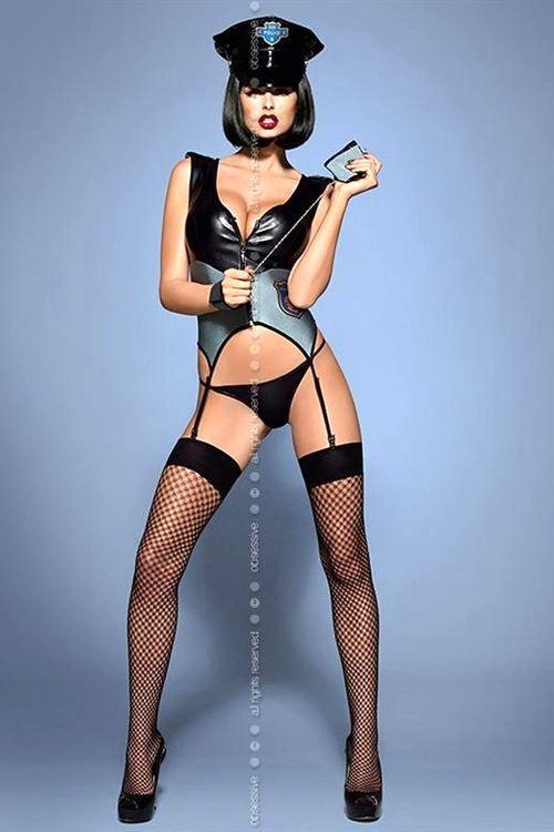 Dámský komplet Obsessive Police corset