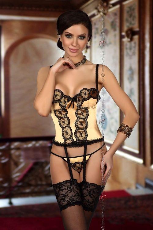 Dámský korzet Beauty Night Fashion Michele corset zlatý