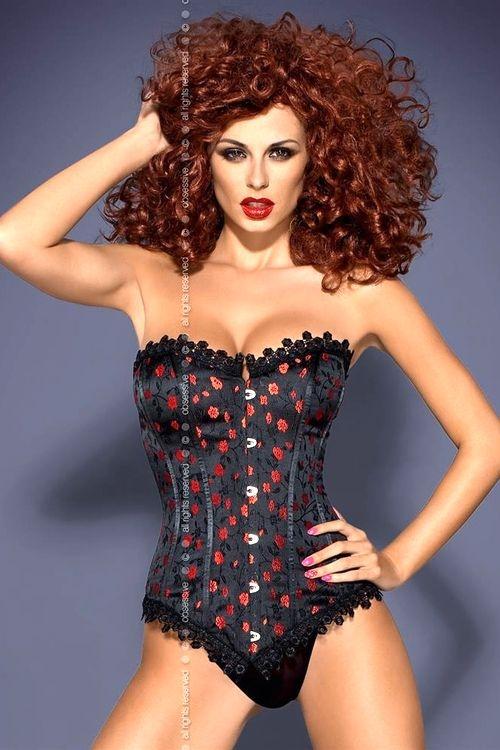 Dámský korzet Obsessive Cabernet corset