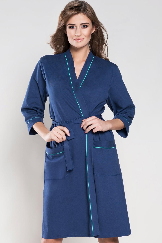 Dámský modrý župan Italian Fashion Dajana