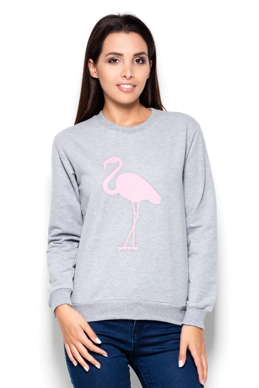 Dámský pulovr Katrus K417 šedý