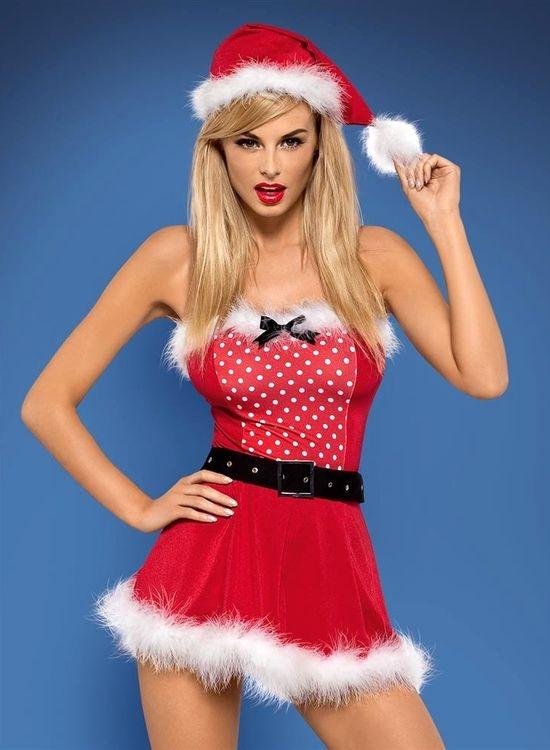 Dámský Vánoční kostým Obsessive Mrs. Claus