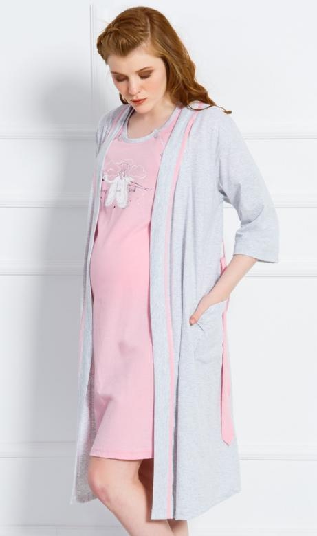 Dámský župan a mateřská košile Vienetta Secret Čáp
