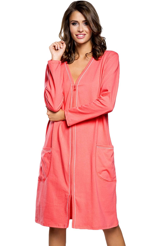 Dámský župan Italian Fashion Damia plus raspberry
