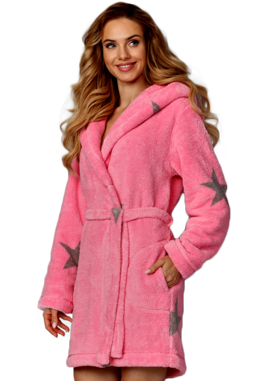 Dámský župan L&L 8120 pink-onyx
