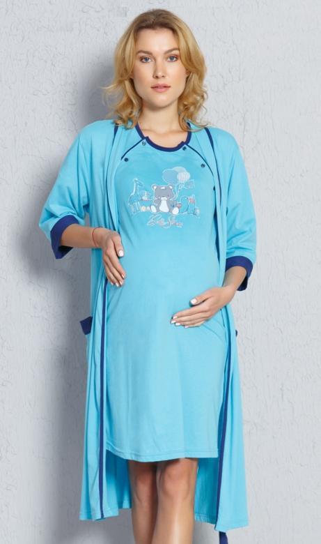 Dámský župan s mateřskou košilí Vienetta Secret Baby