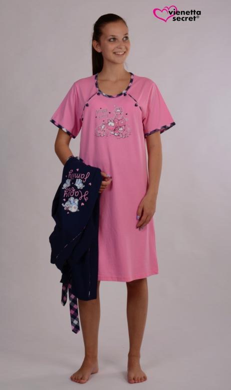 Dámský župan s mateřskou košilí Vienetta Secret Happy family