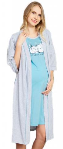Dámský župan s mateřskou košilí Vienetta Secret Koťata