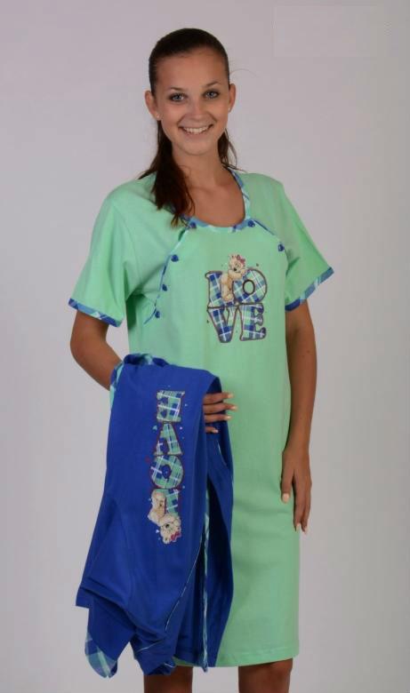 Dámský župan s mateřskou košilí Vienetta Secret Love