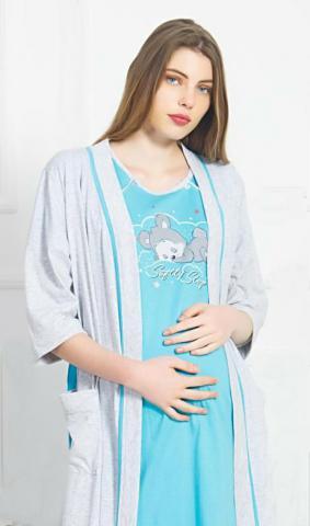 Dámský župan s mateřskou košilí Vienetta Secret Matylda