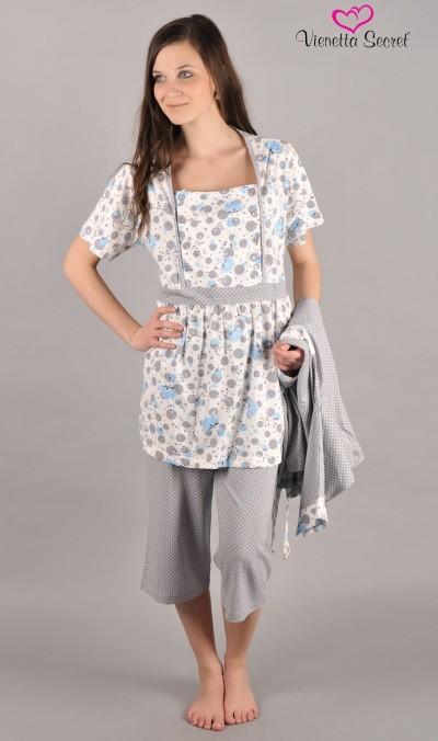 Dámský župan s mateřským kapri pyžamem Vienetta Secret Eva