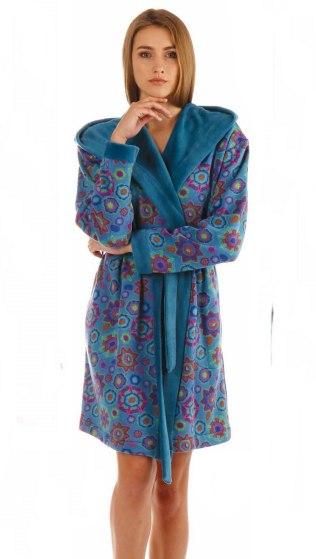 Dámský župan Vestis Freja 3072 modrá