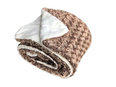 Deka mikrovlákno Ovečka melír oříšková