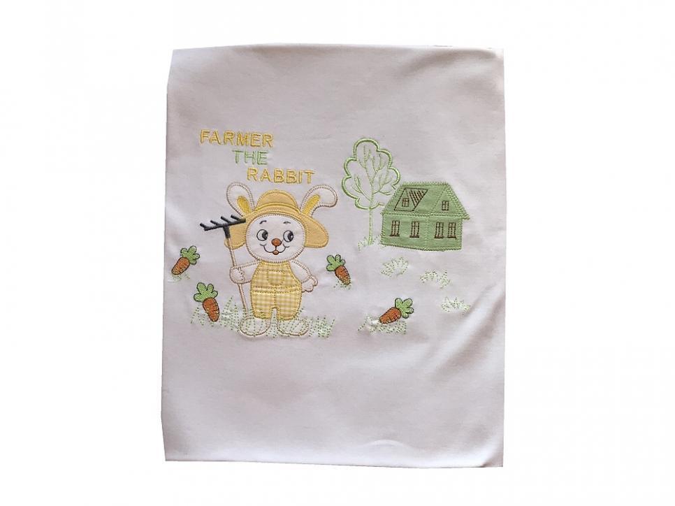 Dětská bavlněná deka Zajíček bílý