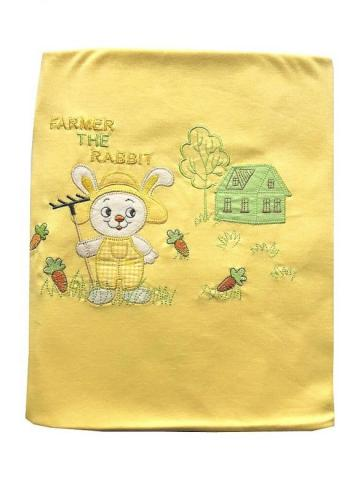 Dětská bavlněná deka Zajíček žlutý