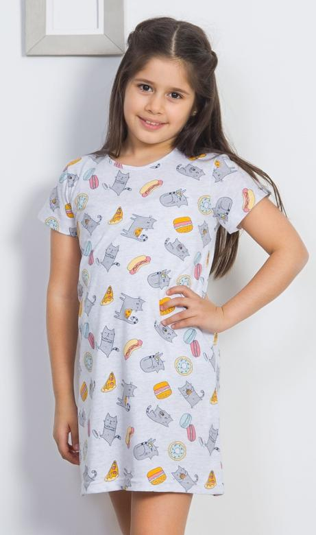 Dětská noční košile Vienetta Secret Mlsná kočka
