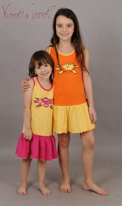 Dětská noční košile na ramínka Vienetta Secret Mořská hvězdice