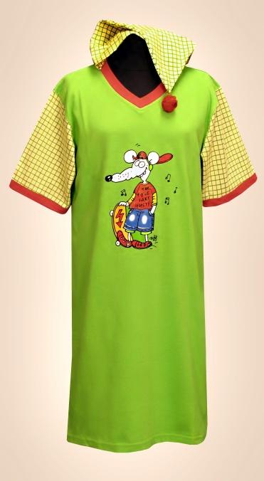 Dětská noční košile s čepicí - Myšák