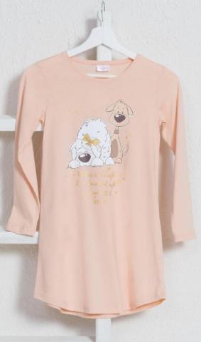 Dětská noční košile s dlouhým rukávem Little dogs