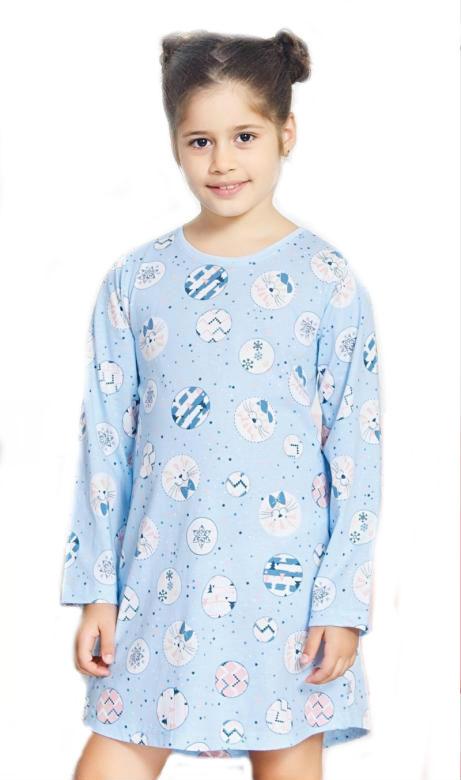Dětská noční košile s dlouhým rukávem Vienetta Secret Kitty
