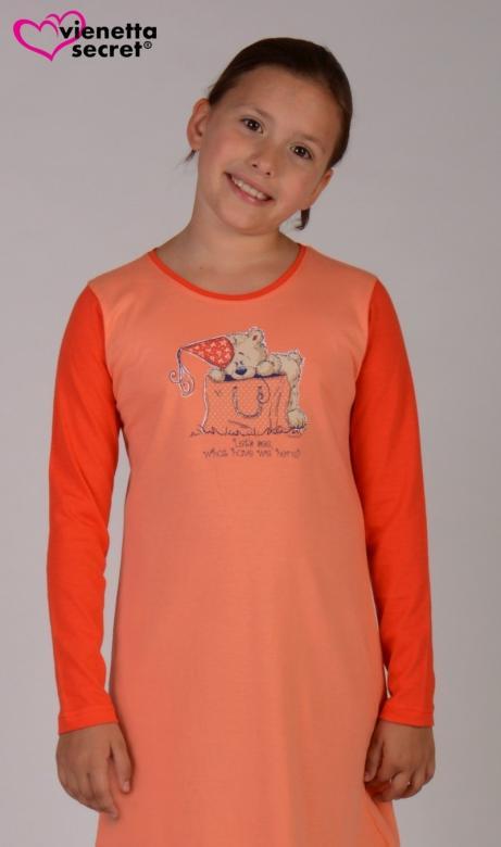 Dětská noční košile s dlouhým rukávem Vienetta Secret Medvěd v tašce