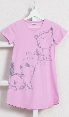 Dětská noční košile Vienetta Secret Kočky