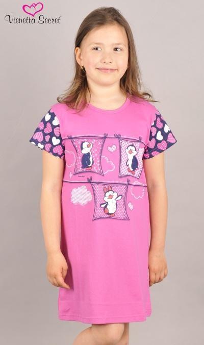 Dětská noční košile s krátkým rukávem Vienetta Secret Tučňáci