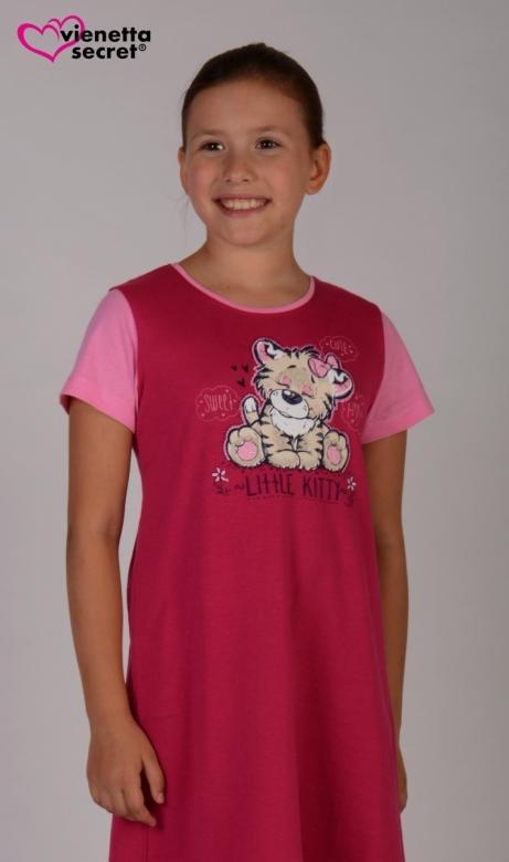 Dětská noční košile s krátkým rukávem Vienetta Secret Malý tygr