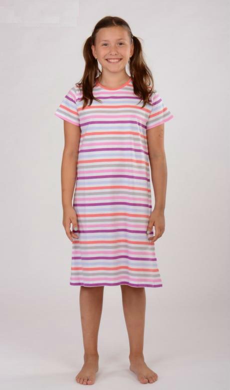 Dětská noční košile s krátkým rukávem Vienetta Secret Proužek