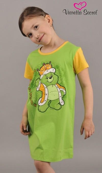 Dětská noční košile Vienetta Secret (kr.rukáv) Král srdce