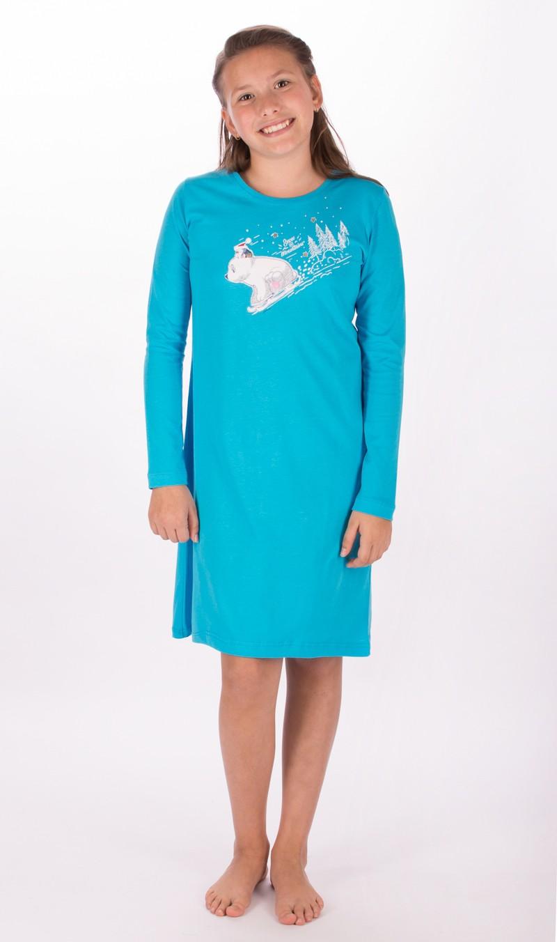 Dětská noční košile Vienetta Secret Méďa na saních