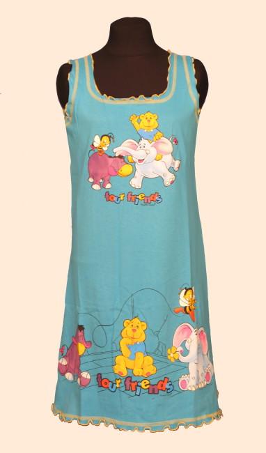 Dětská noční košile Vienetta Secret (ramínka) - zvířátka