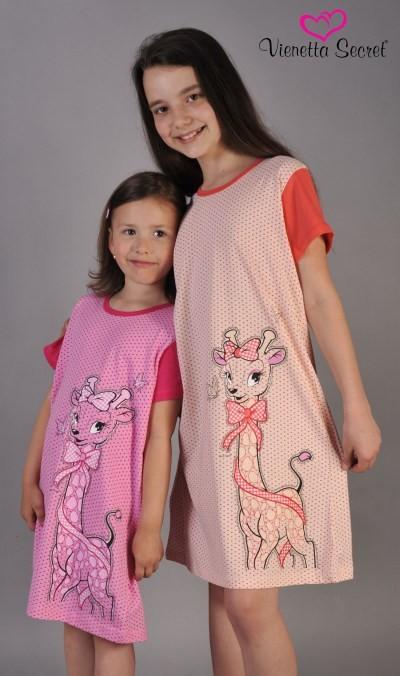 Dětská noční košile Žirafa s mašlí