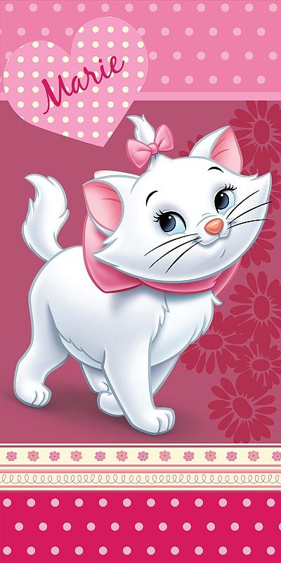Dětská osuška Jerry Fabrics Marie Cat Pinkie