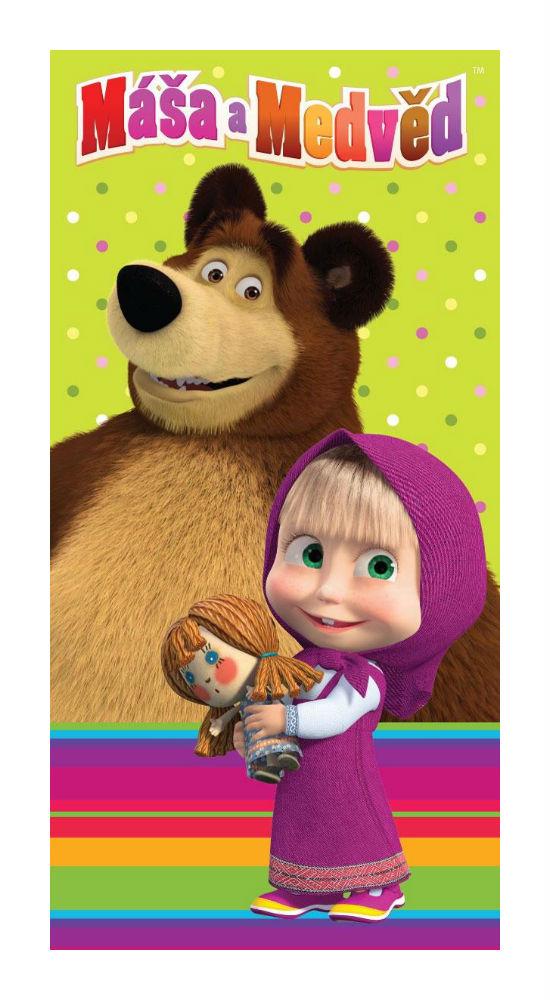 Dětská osuška Jerry Fabrics Máša a medvěd 008