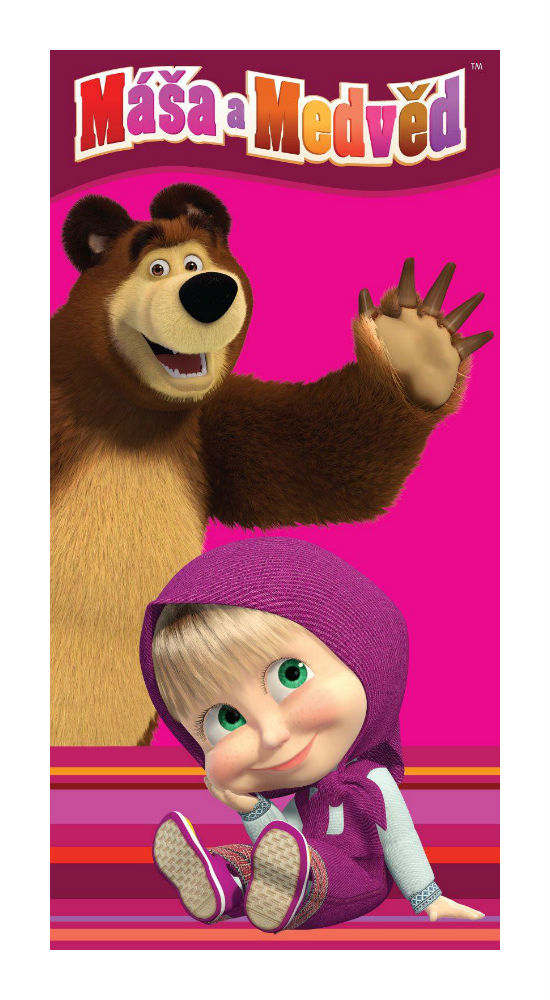 Dětská osuška Jerry Fabrics Máša a medvěd 012
