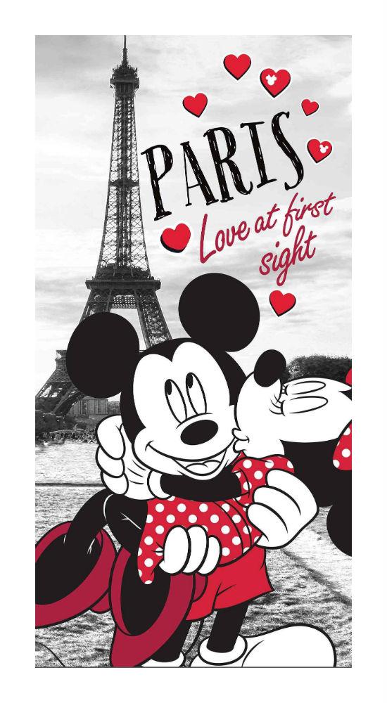 Dětská osuška Jerry Fabrics Mickey and Minnie in Paris