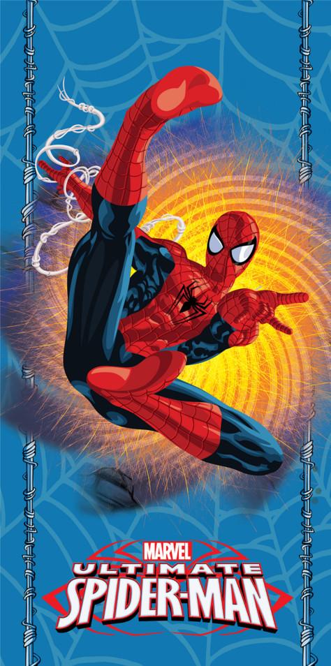 Dětská osuška Jerry Fabrics Spiderman Blue