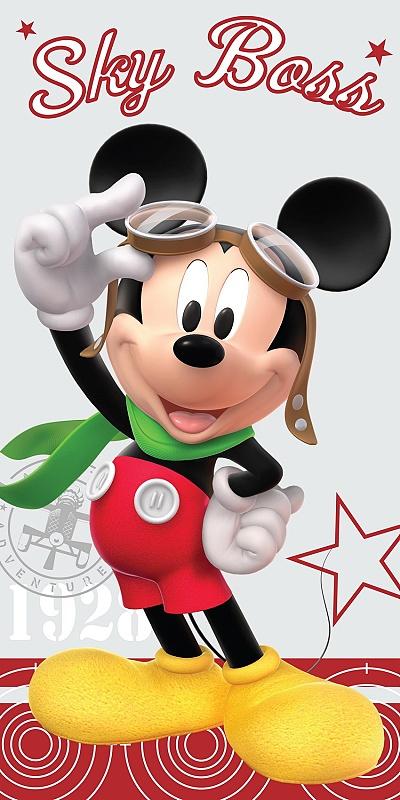 Dětská osuška Mickey Pilot 75x150 cm